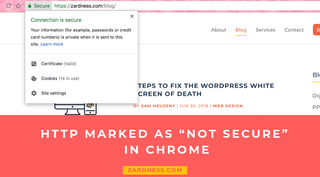 "HTTP marked as ""not secure"" in Chrome"